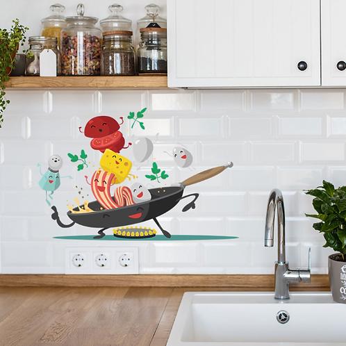 מדבקת קיר למקרר ולמטבח