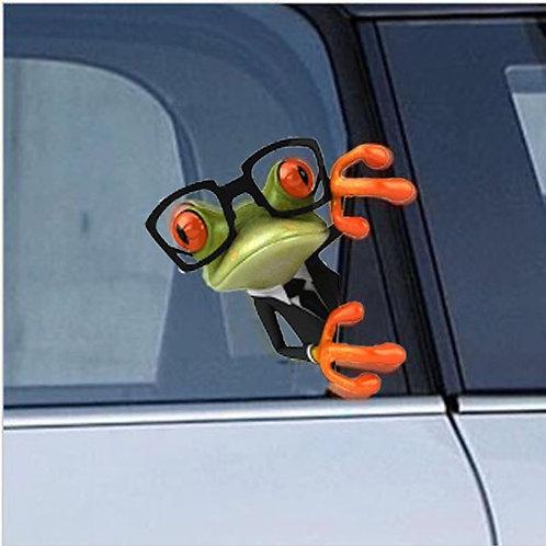 Crazy Frog - מדבקת קיר - צפרדע ירוק עם משקפיים