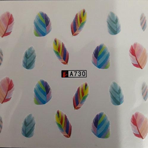 A730 - מדבקת ציפורניים