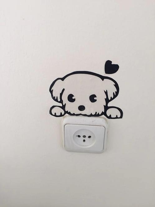 מדבקת קיר כלב חמוד