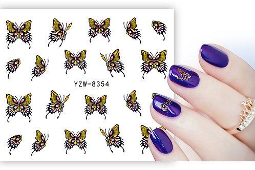 YZW8354 - מדבקת ציפורניים