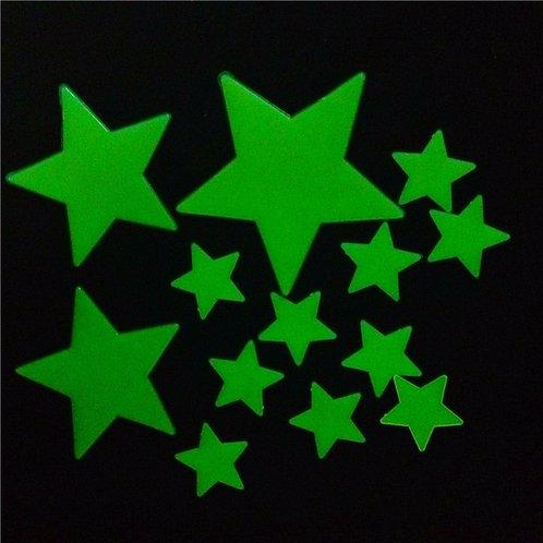 Moon & Stars - מדבקות קיר זוהרות -רכישה בבודדים - ירח וכוכבים בגדלים