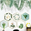 Thumbnail: שש מסגרות גיאומטריות עם פרחים