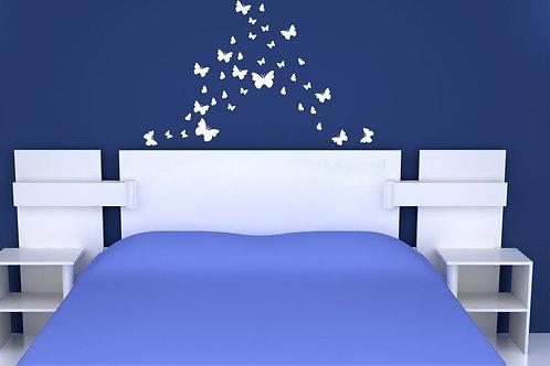 Butterflies - מדבקת קיר - פרפרים בצבעים ובצורות שונות