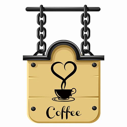 מדבקת קיר קפה