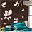 Thumbnail: מדבקת קיר דקורטיבית ציור פרחי מגנוליה