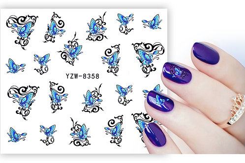 YZW8358 - מדבקת ציפורניים