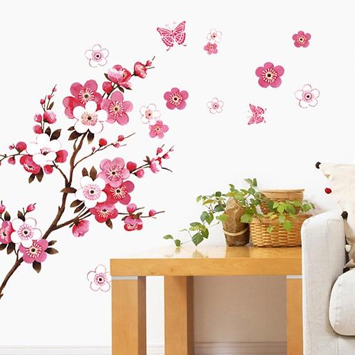 מדבקת קיר פרחי סאקורה