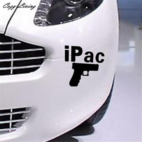 IPAC - מדבקת קיר לרכב - אקדח