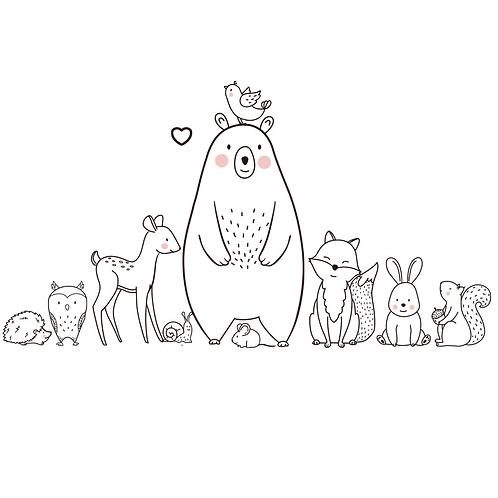 קריקטורת בעלי חיים סגנון נורדי