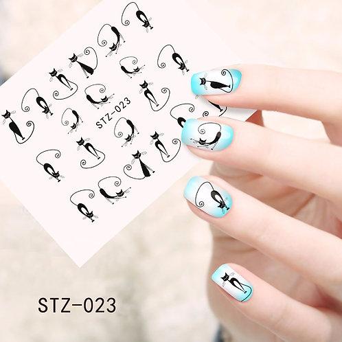 STZ023 - מדבקת ציפורניים