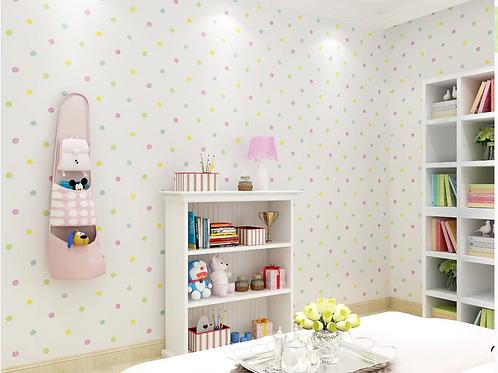 טפט נקודות צבעוניות לחדר ילדים