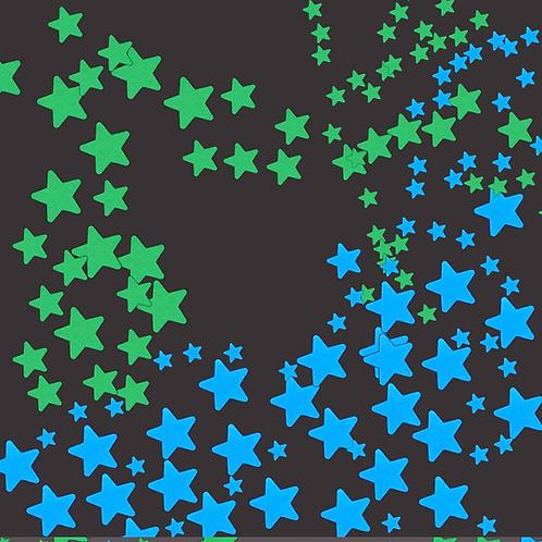 מדבקות קיר 100 כוכבים זוהרים