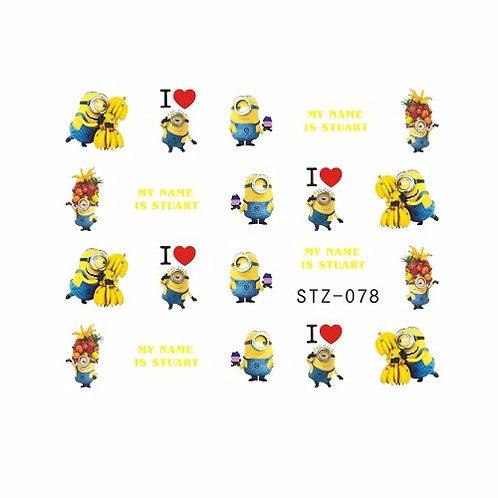 STZ078 - מדבקת ציפורניים