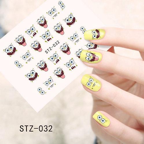 STZ032 - מדבקת ציפורניים