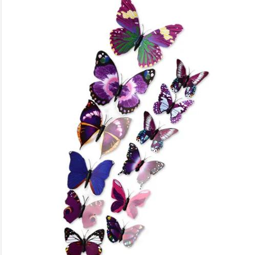 פרפרים צבעוניים תלת מימד
