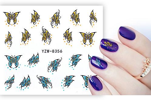 YZW8356 - מדבקת ציפורניים