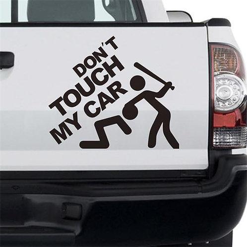 Don't touch my car - מדבקה לרכב - אל תיגע באוטו שלי
