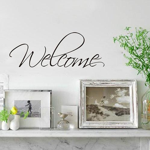 Welcome - מדבקת קיר