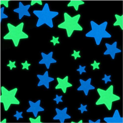 מדבקות קיר-100 כוכבים זוהרים