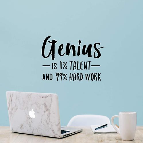 גאונות זה 1% כישרון ו- 99% עבודה קשה