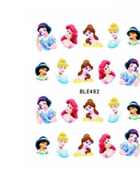 BLE492 - מדבקת ציפורניים - נסיכות