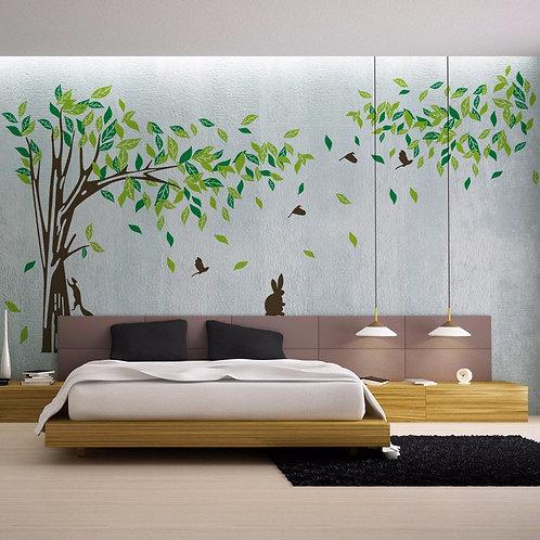 Big Green Tree - מדבקת קיר - עץ גדול ירוק