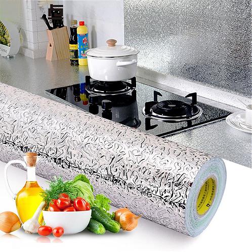 מדבקת רדיד אלומניום למטבח - עמיד למים