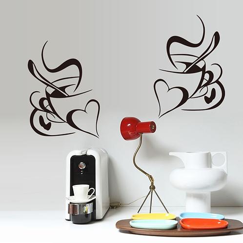 זוג ספלי קפה - אהבה