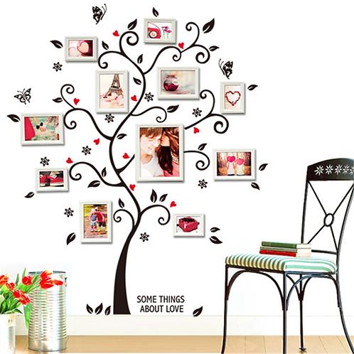 מדבקת קיר -  עץ תמונות