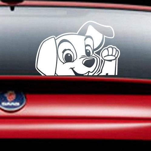 Puppy - מדבקת קיר לרכב -כלבלב נחמד