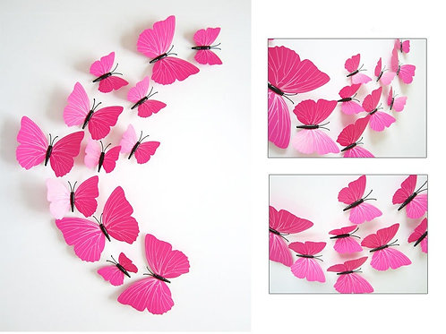 Butterflies - פרפרים בצבעים עם קוים בכנפיים