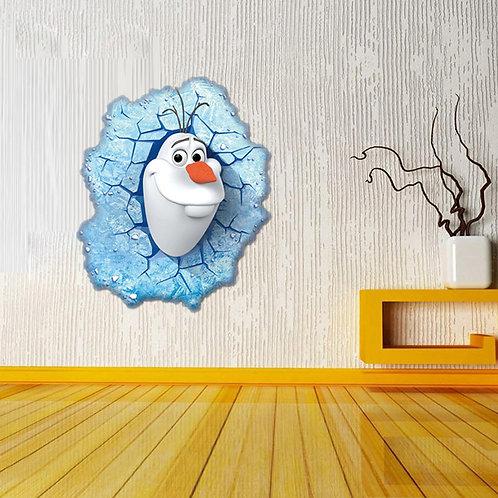 Frozen - מדבקת קיר - אולף מלשבור את הקרח