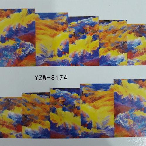 YZW8174 - מדבקת ציפורניים