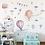 Thumbnail: מדבקת קיר לחדר ילדים - כדורים פורחים עננים ובלונים