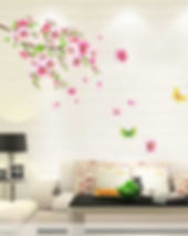 wall-sticker-wallpaper-like-with-flowers