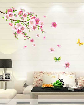 wall-sticker-wallpaper-like-with-flowers