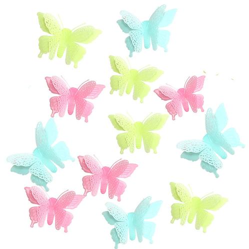 פרפרים זוהרים שכבה כפולה
