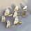 Thumbnail: מדבקת קיר- פרפרים זהב וכסף תלת מימד