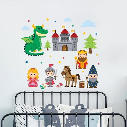 מדבקת קיר דמויות מצויירות לחדר ילדים