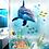 Thumbnail: מדבקת קיר - דגים ודולפין באוקיינוס