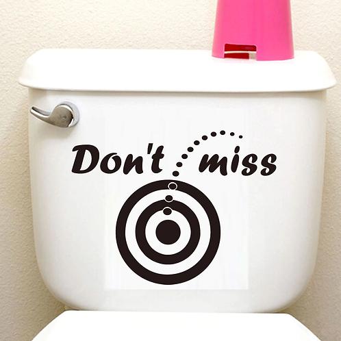 don't miss מדבקת קיר לשירותים