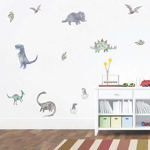 דינוזאורים אפקט תלת מימד לחדר ילדים