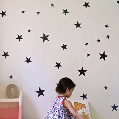 מדבקת קיר - דמוי טפט - כוכבים