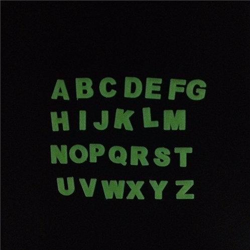 ABC - מדבקות קיר זוהרות אותיות ה