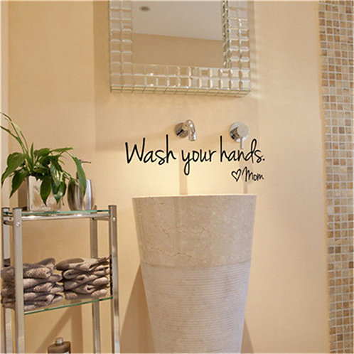 Wash your hands, Mom - מדבקת קיר - רחץ את ידיך, אמא