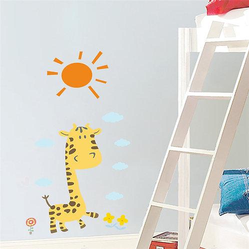 Giraffe Sun - מדבקת קיר - ג'ירפה ביום שמש