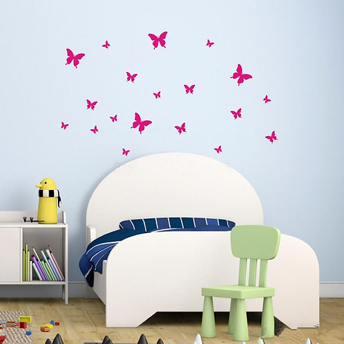 Variety Butterflies - מדבקת קיר - פרפרים בצבעים ובגדלים שונים