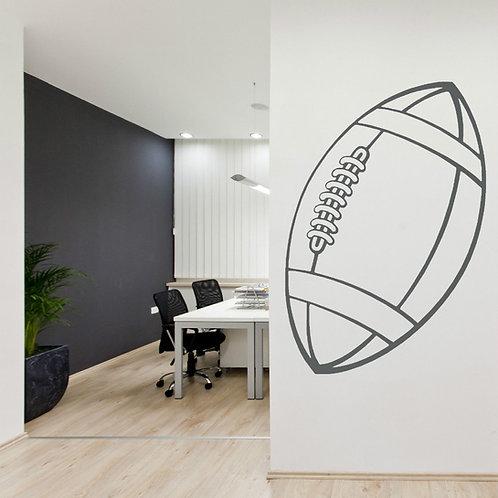 Rugby Ball - מדבקת קיר - כדור רוגבי