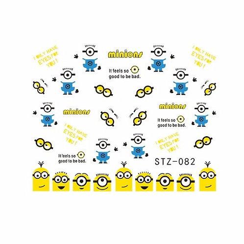 STZ082 - מדבקת ציפורניים